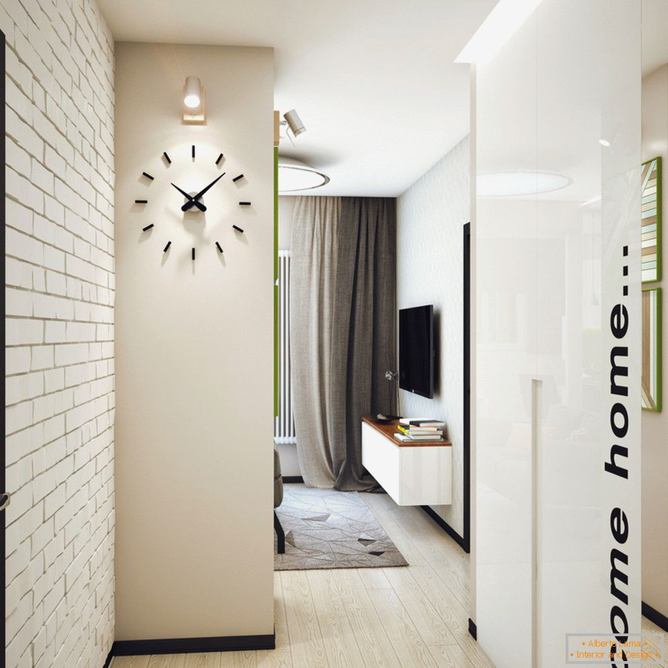 Entrance hall of a student apartment in Novosibirsk