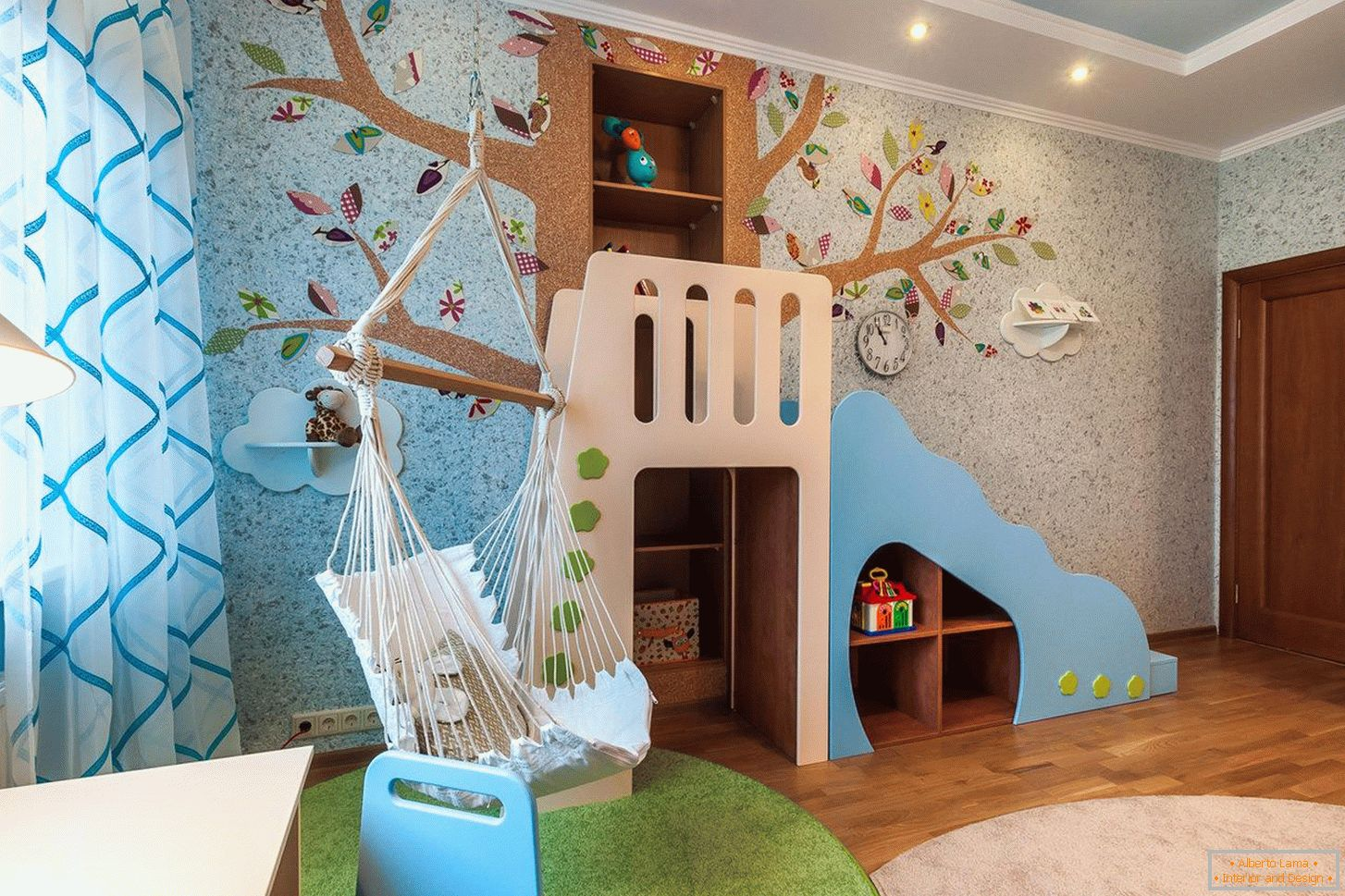 Wall design in the children's room