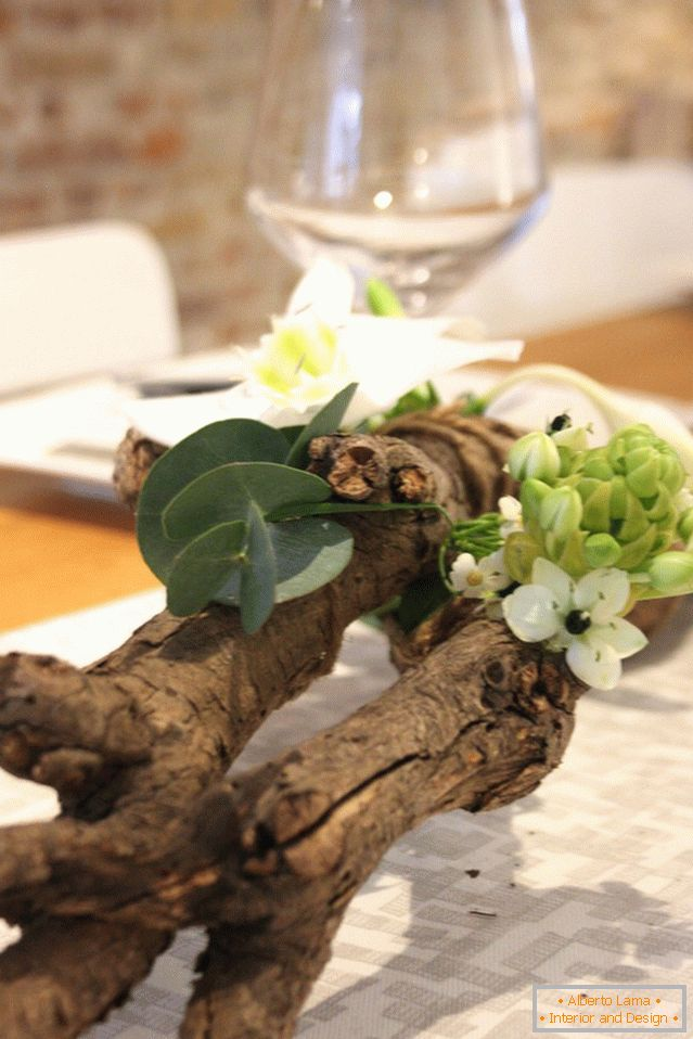 Approximately this is how the branch should look on the table