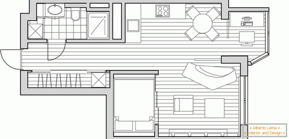 Layout layout of a small apartment
