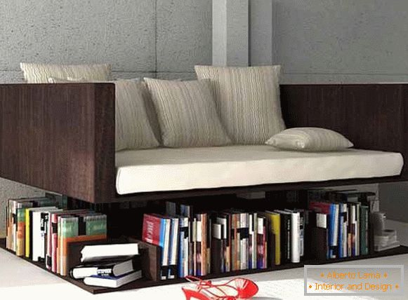 Ransa sofa with bookshelves from the designer Younes Duret, Morocco