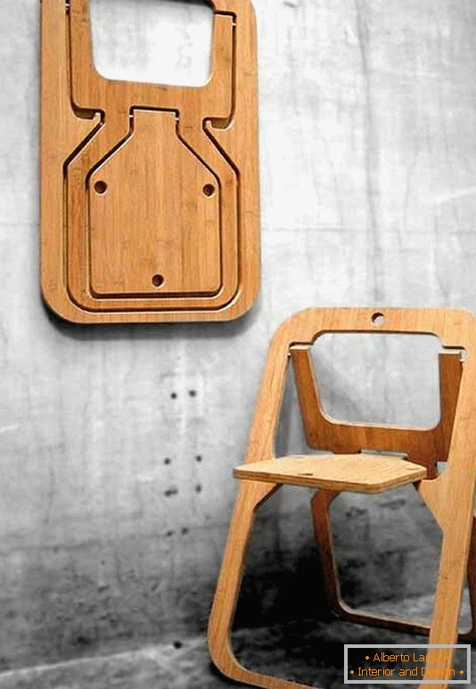 Folding chair from the designer Christian Desile, France