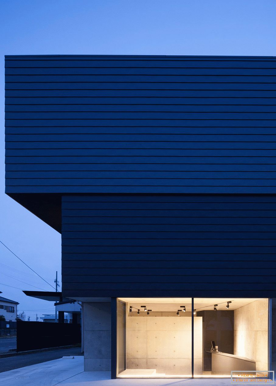 Facade of a small studio house