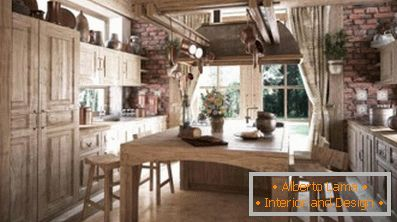 Features of the design of the kitchen in the style of the
