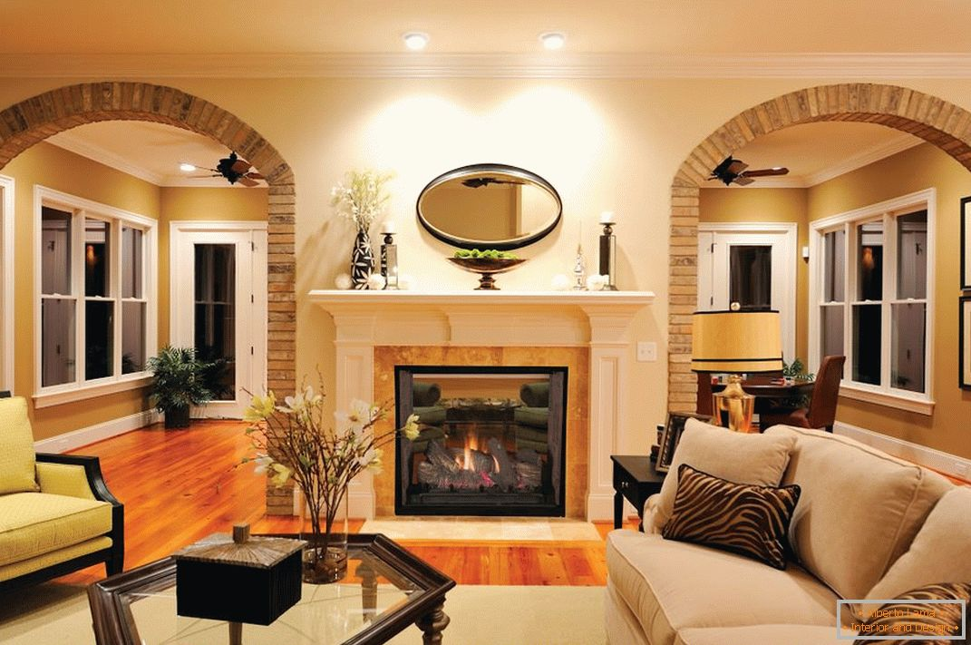 Classic interior with an arch