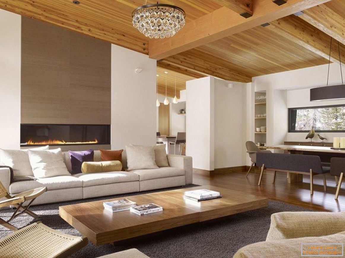 Interior decoration with wood