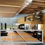 Wooden ceiling and beams