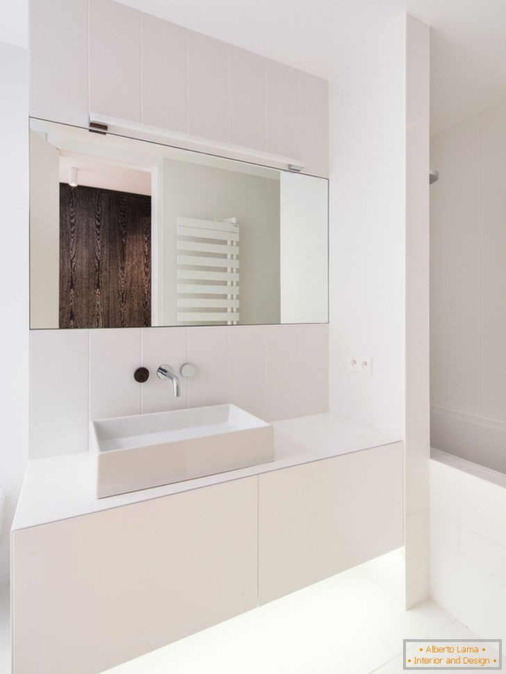 Large mirror in the bathroom