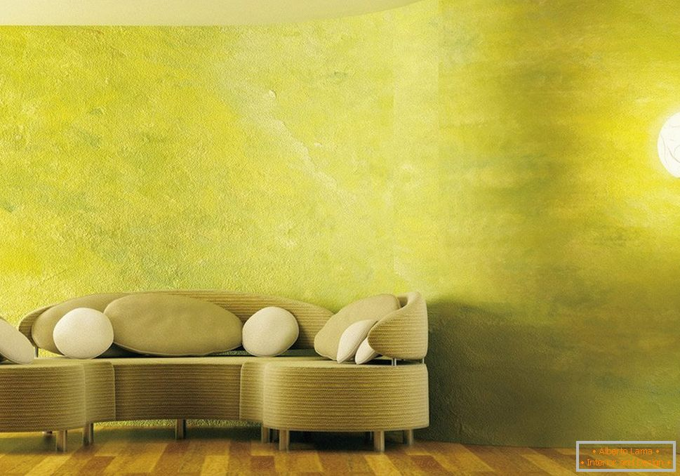 Painted walls in the living room