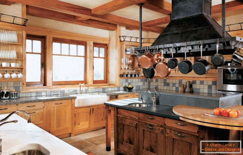 Kitchen interior from environmentally friendly materials