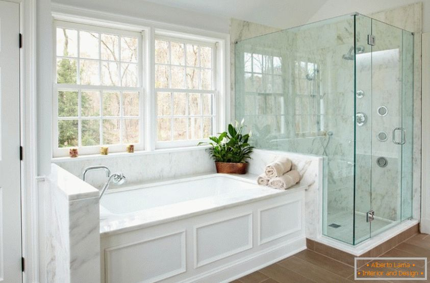 Bathroom interior from marble