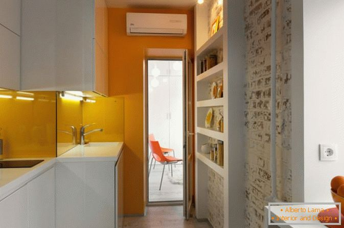 Kitchen of a small studio apartment in Kiev