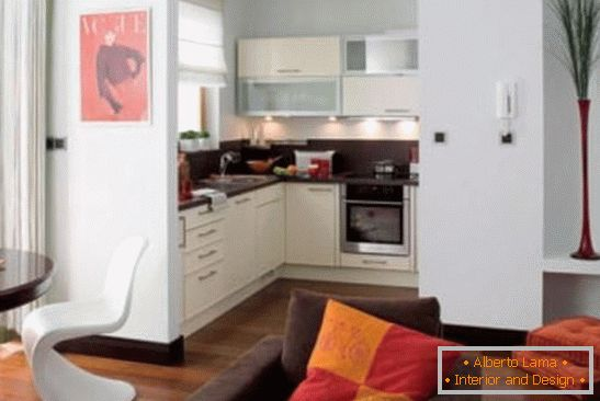 Interior of a compact modern kitchen