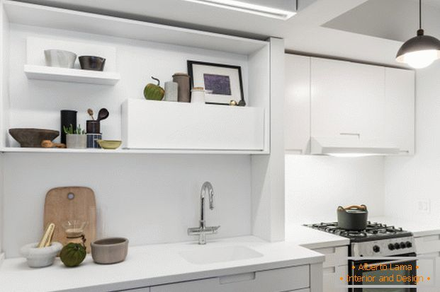 Kitchen in a small apartment