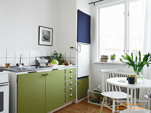 Kitchen and dining room in Scandinavian style