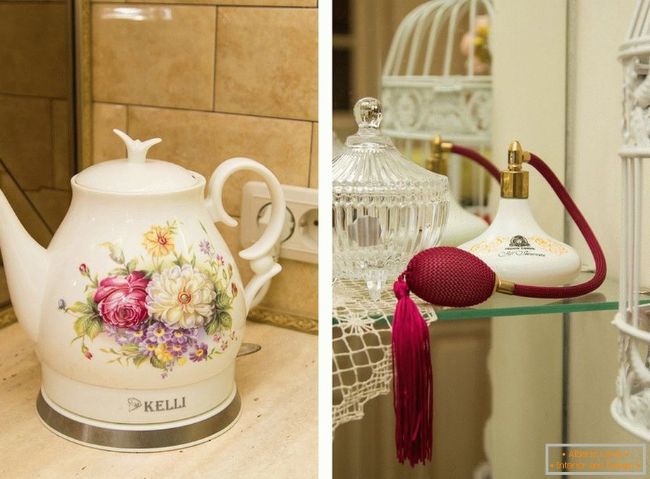 Ceramic electric kettle and perfumes