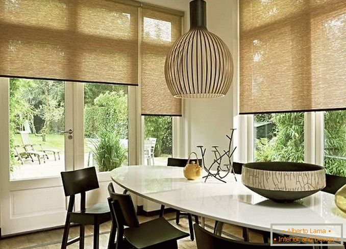 bamboo roller blinds, photo 27