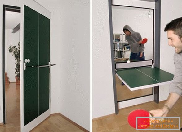 Door-table for table tennis