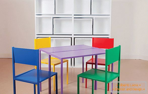 Bright table and chairs