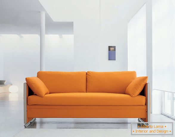 Soft orange sofa