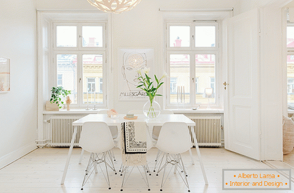 Dining room in Scandinavian style