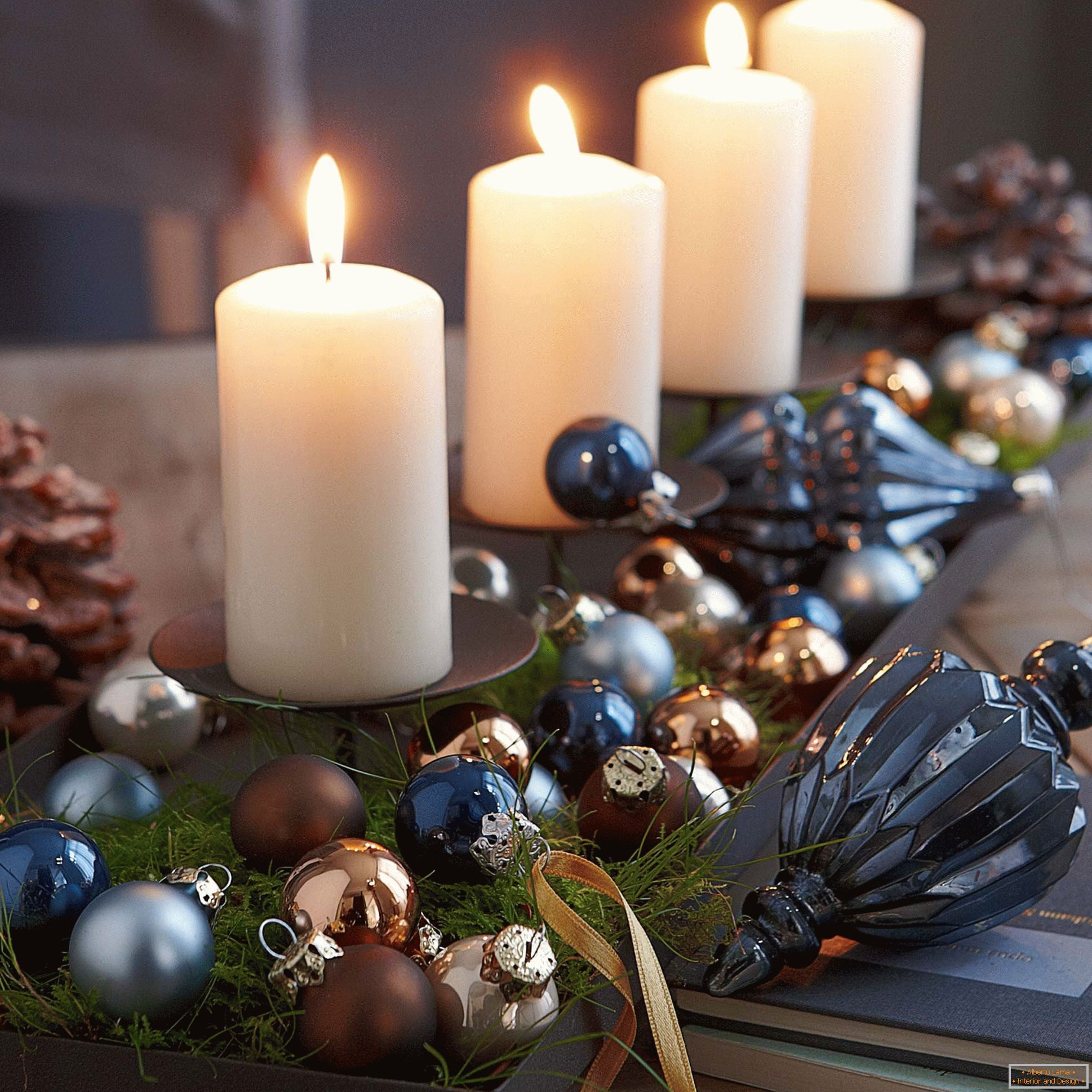 New Year composition of candles
