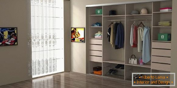 Built-in closet in the bedroom - the size and photo inside