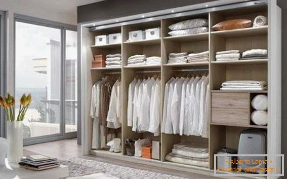 Interior design of the wardrobes in the bedroom