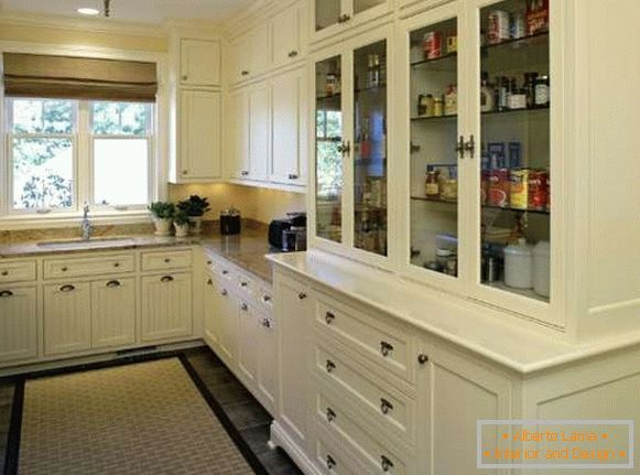 Kitchen cupboard cupboard with glass doors
