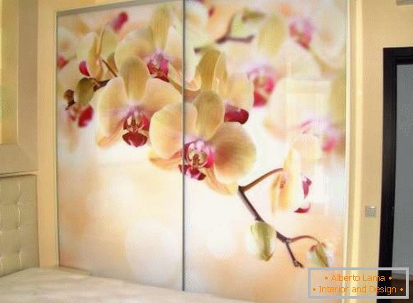 Glass doors for cupboards with photo printing