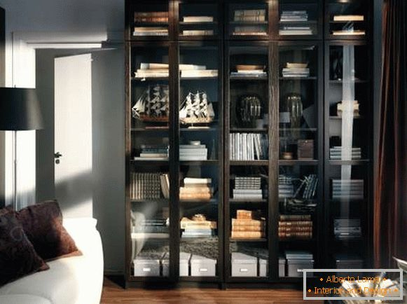 Cabinet with glass door and lighting