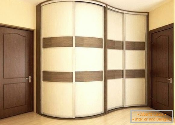 Beautiful design of the wardrobe