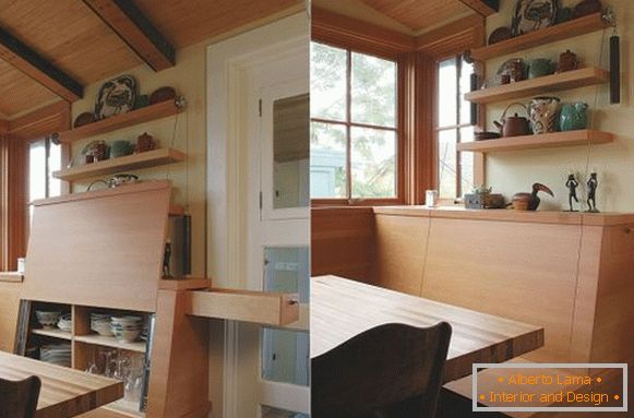 Storage systems in the kitchen seat