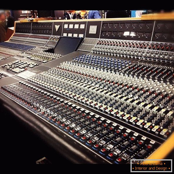 Complex equipment of sound studios