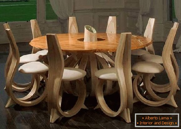 modern design furniture made of wood, photo 10