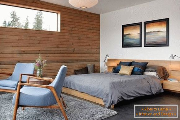 Wall decoration with wood - types of materials and photos