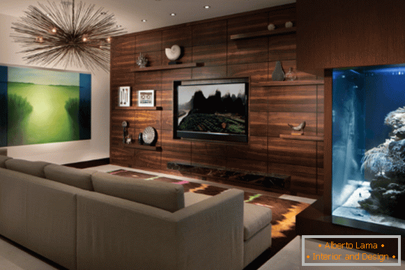 Wooden panels for wall decoration - photos in the interior