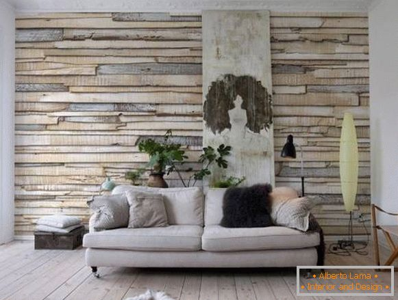 Wall decoration for a tree - wall panels in the interior