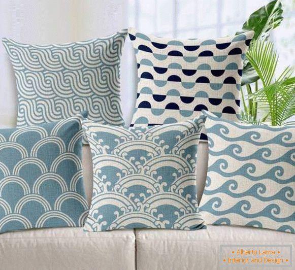 Stylish home decoration items - pillows with prints