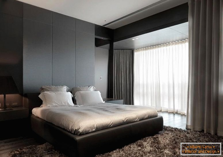 Bedroom design in dark color