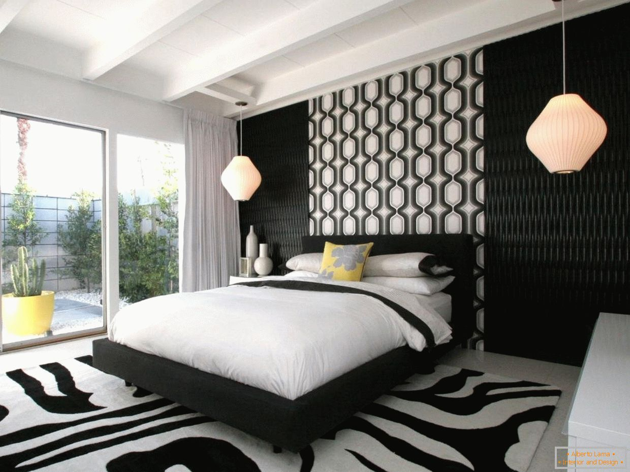 Contrasting Bedroom Design
