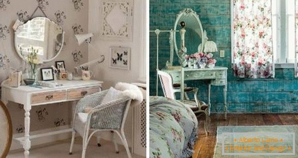 Bedroom cheby chic with dressing table