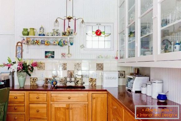 Boho style in the interior of the kitchen - photo of beautiful design