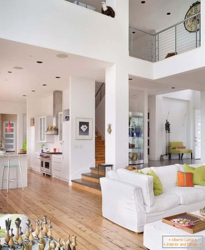 Color accents in the design in the style of Contemporary