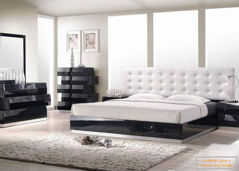 Materials in the bedroom in the style of Contemporary