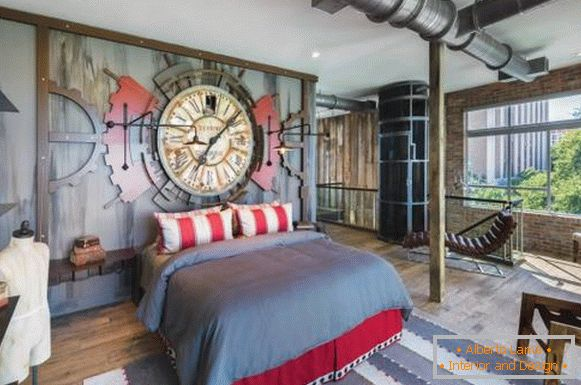 Steampunk style - bedroom photo