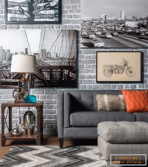 How to decorate a steampunk in the interior - photo of the living room