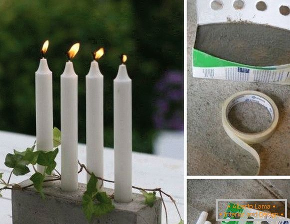How to make candlesticks with your own hands