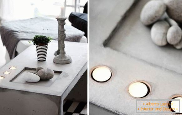Crafts for the home: beautiful table
