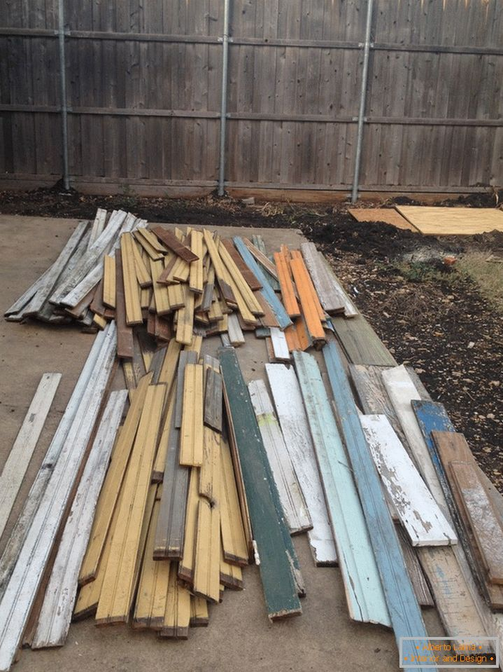 Old boards from the barn